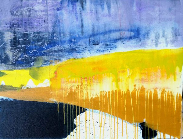 Abstract coast II 52cm x70cm Acrylic on paper 2017 SOLD Matthew Rees Artist