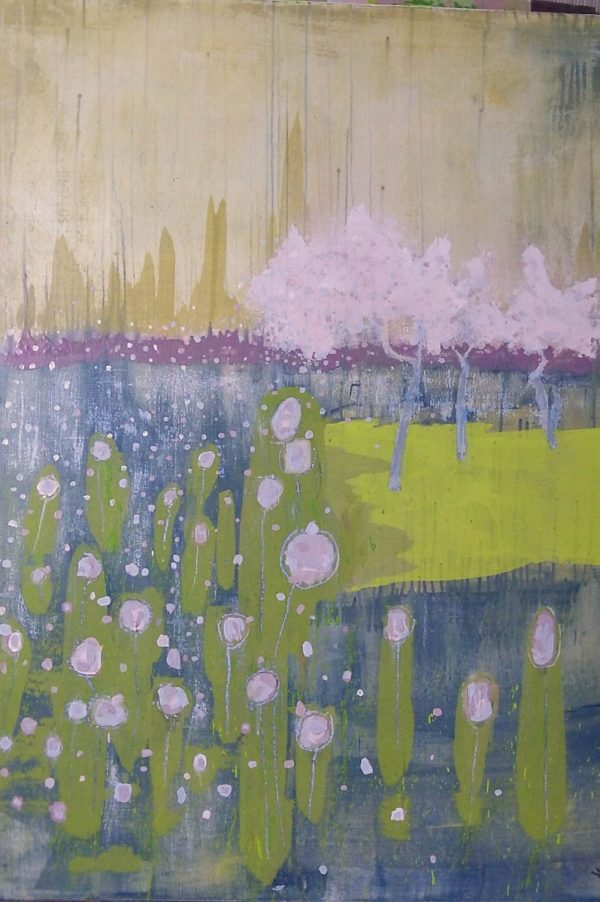 Almond Blossom 91cm x 122cm Acrylic on canvas 2016 SOLD (Prints Available) Matthew Rees Artist