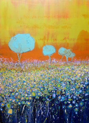 August Field 54cm x 73cm Acrylic on canvas 2017 Sold (Prints Available) Matthew Rees Artist