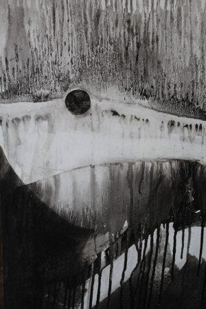 Black Sun 29cm x 39cm Oil on paper 2017 £500 framed Matthew Rees Artist