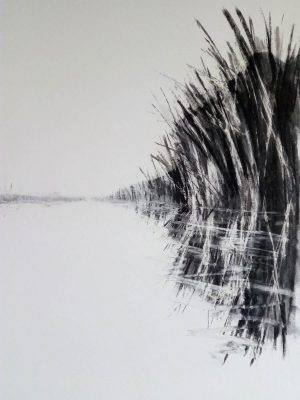 Canal drawing III 52cm x 70cm Charcoal on paper £350 Matthew Rees Artist