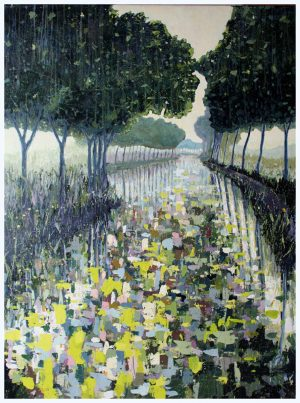 Canal du midi III 91cm x 122cm Acrylic on canvas SOLD Prints Matthew Rees Artist