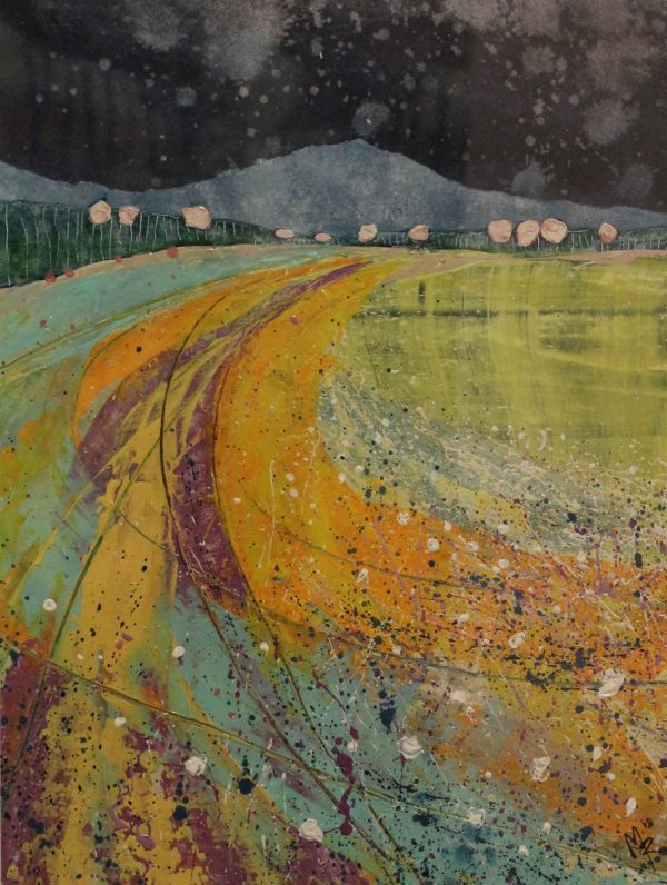 Coastscape 29cm x 39cm Acrylic on paper 2018 SOLD Matthew Rees Artist