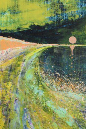 Coastscape I 52cm x 70cm Acrylic on paper 2018 £1500 framed Matthew Rees Artist