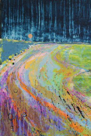 Coastscape II 52cm x 70cm Acrylic on paper 2018 £1500 framed Matthew Rees Artist