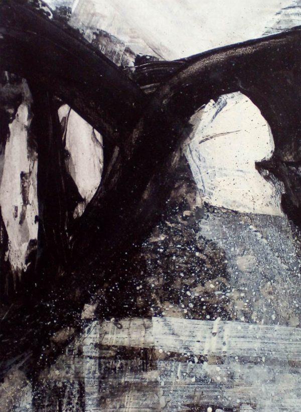 Dark Canal 29cm x 39cm Acrylic on Paper SOLD Matthew Rees Artist