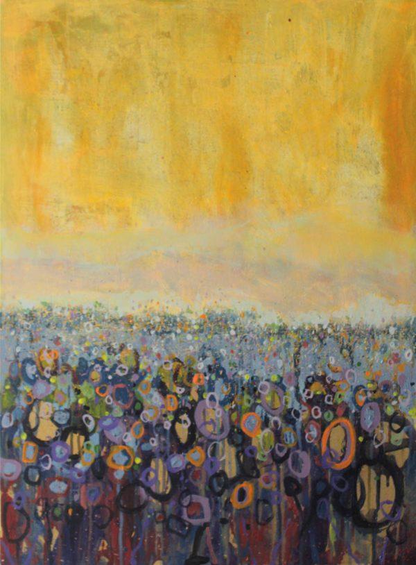 Golden October 54cm x73cm Acrylic on canvas 2016 Sold Matthew Rees Artist