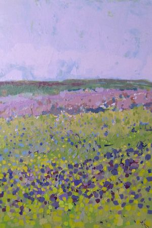 Lavender Green Field 60cm x 80cm Acrylic on canvas 2016 SOLD (Prints Available) Matthew Rees Artist