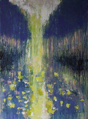 Misty Morning Canal du Midi 54cm x 73cm Acrylic on canvas 2018 £1500 framed Matthew Rees Artist