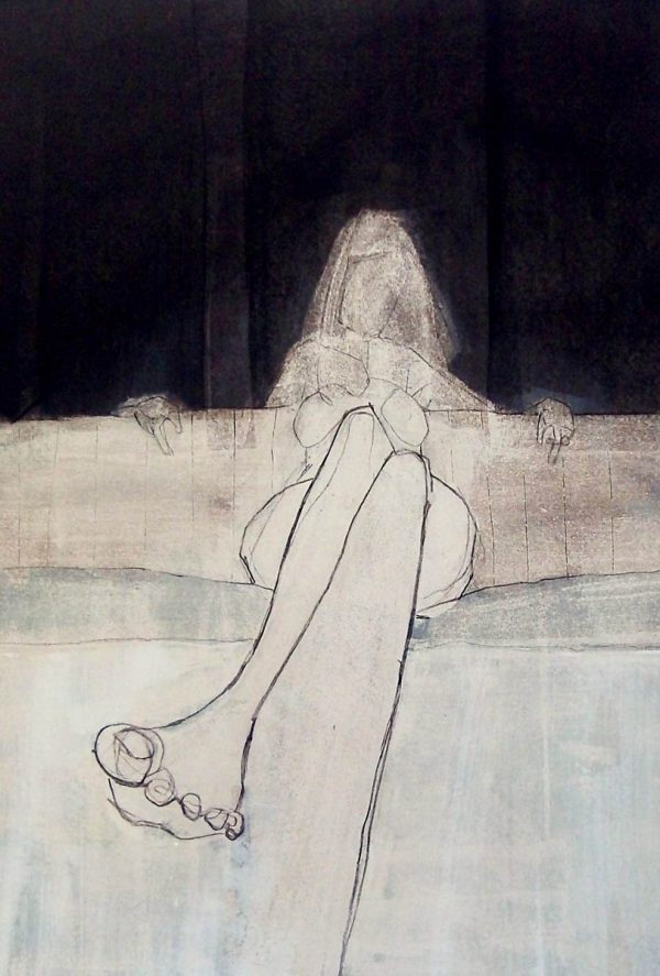 Sarah's foot 50cm x 70cm Acrylic on paper 2016 SOLD (Prints Available) Matthew Rees Artist