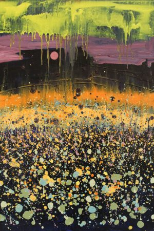Star Flowers 54cm x 73cm Oil on canvas 2017 £1500 framed Matthew Rees Artist