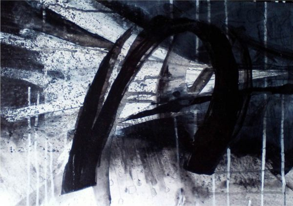 Storm 29cm x 39cm Acrylic on paper 2016 Sold Matthew Rees Artist