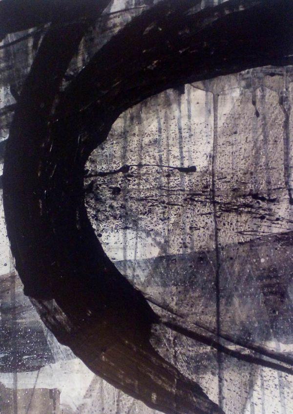 Storm II 29cm x 39cm Acrylic on paper 2016 SOLD Matthew Rees Artist