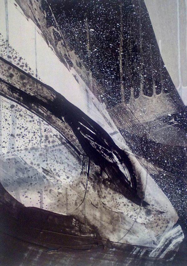 Storm III 29cm x 39cm Acrylic on paper 2016 SOLD Matthew Rees Artist