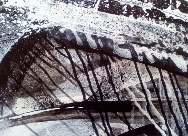 Storm V 29cm x 39cm Acrylic on paper 2016 SOLD Matthew Rees Artist