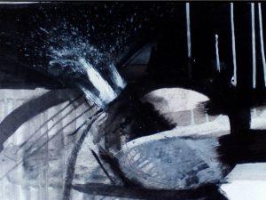 Storm VI 29cm x 39cm Acrylic on paper 2016 Sold Matthew Rees Artist