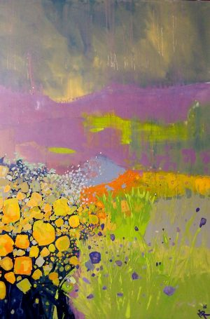 Storm flowers 91cm x 122cm Acrylic on canvas Sold ( Prints Available) Matthew Rees Artist