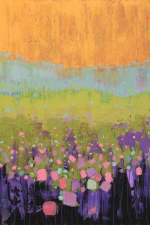 Sunset Field 60cm x 80cm Acrylic on canvas 2018 £1900 framed Matthew Rees Artist