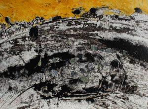 Treeline III 39cm x 29cm Arylic on paper 2017 £500 framed Matthew Rees Artist