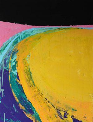 West Coast III 54cm x 73cm Acrylic on canvas 2018 £1500 framed Matthew Rees Artist