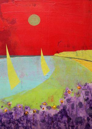 Yellow Sails 29cm x33cm Acrylic on paper £500 Matthew Rees Artist