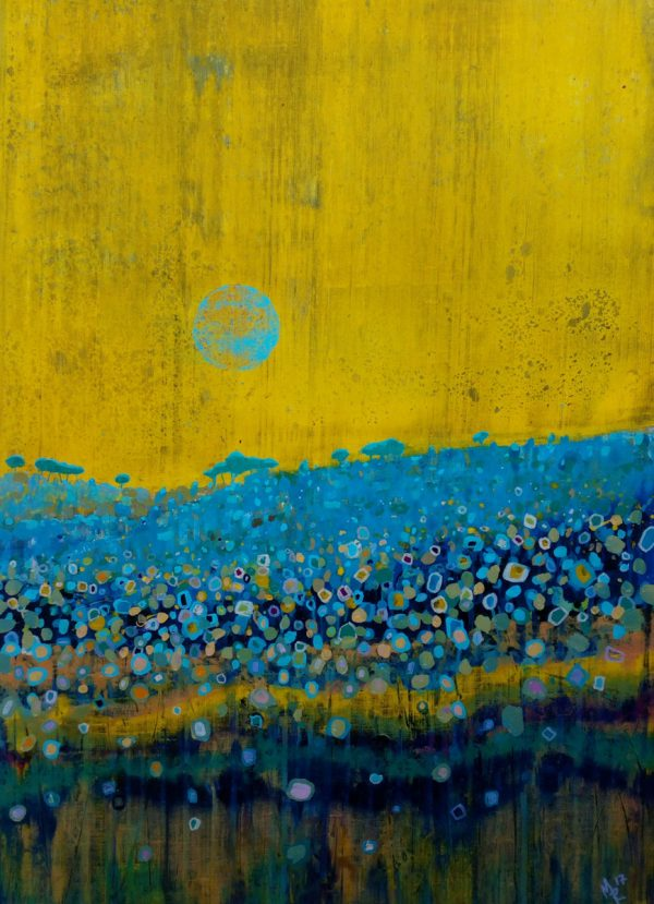 Blue Moon 54cm x 73cm Acrylic on canvas 2017 Sold (Prints available) Matthew Rees Artist